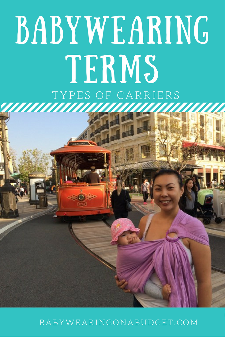 Babywearing Terms: Types of Carriers