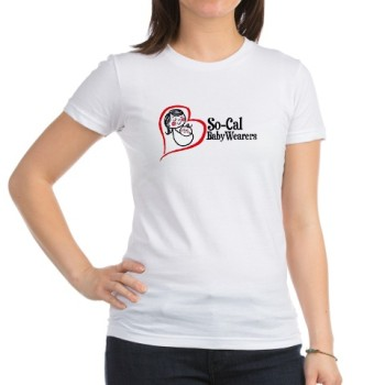 support_socalbabywearers_womenstshirt_cafepress