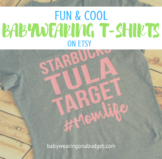 Cool Babywearing T-Shirts on Etsy